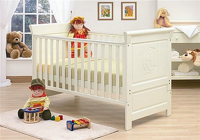 DROPSIDE TUTTIBAMBINI ALICANTE COT BED + FREE MATTRESS