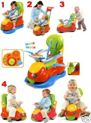 CHICCO QUATTRO 4in1 SIT N RIDE CAR ACTIVITY TOY 82.5CM