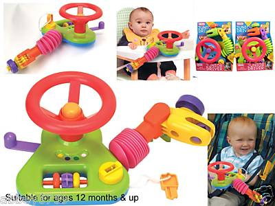 JUNIOR DRIVER INFANT STEERING WHEEL TODDLERS BABY TOYS