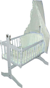 crib cream bedding