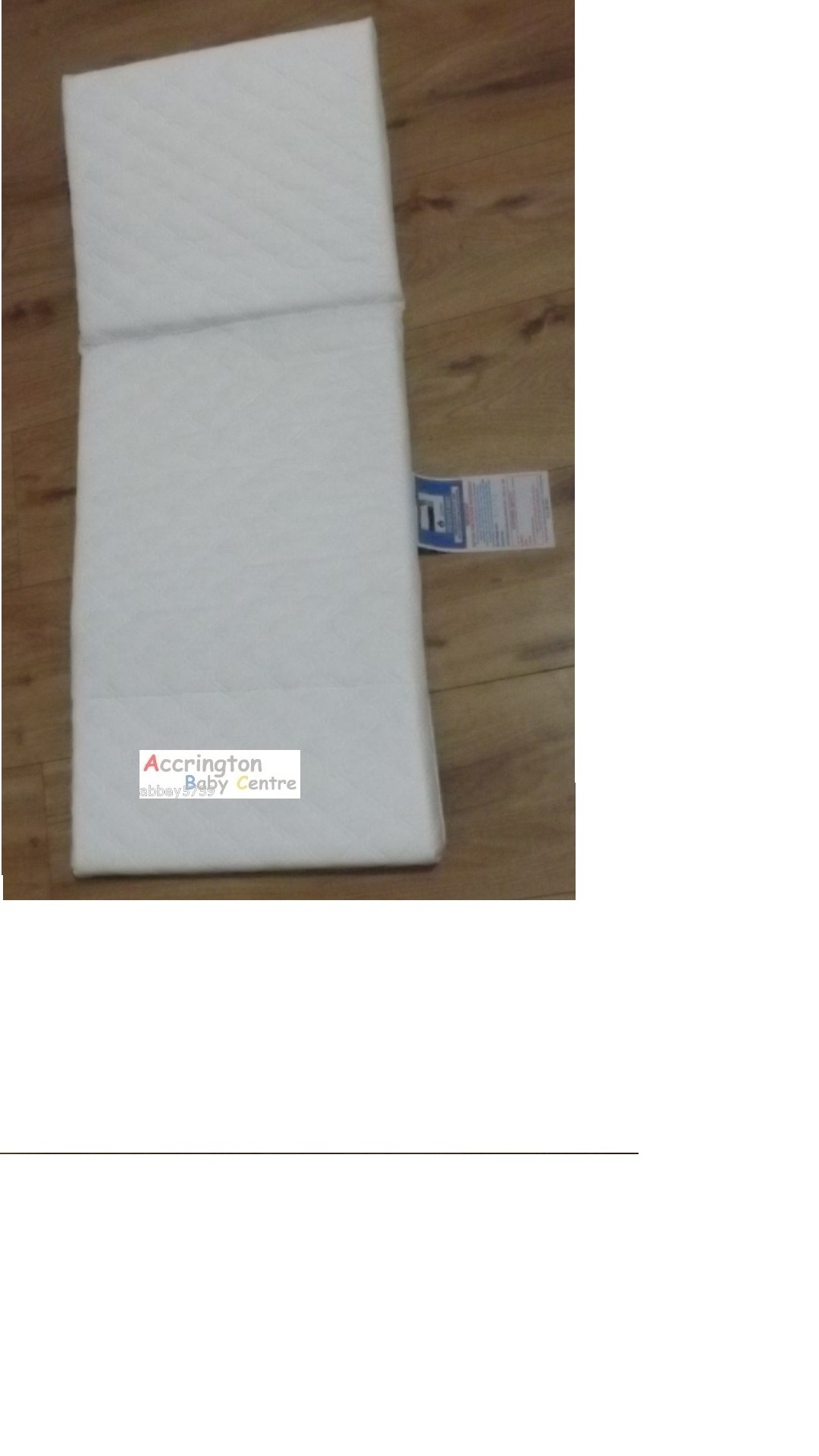 NEW SAFETY MATTRESS 85 x 36 cm 4 Balmoral Silver Cross